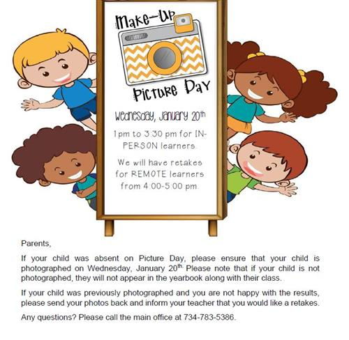 Picture Re-take Day Information