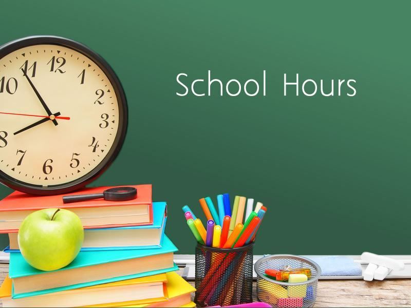 School Hours clock
