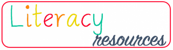 Literacy Resources in colorful lettering
