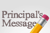 Principal's Message written on paper and pencil