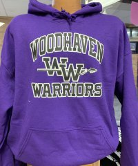 Purple Woodhaven Warriors Hoodie
