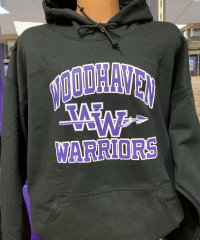 Black Woodhaven Warriors Hoodie