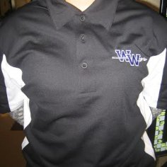 Sportek Black Polo with Embroidered Front
