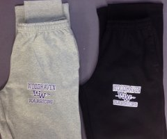 Woodhaven Warriors Sweatpants - Black or Gray